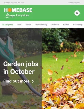 Garden jobs in October