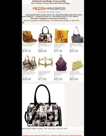 Dear Customer We Have 26 New Hot Handbags For This Week.