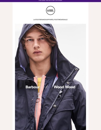 BARBOUR x WOOD WOOD Autumn/Winter Collaboration