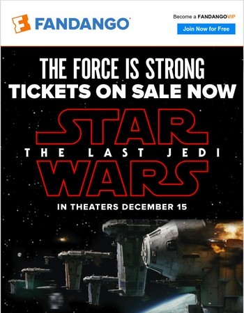 TICKETS NOW ON SALE | Star Wars: The Last Jedi