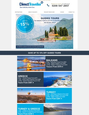 15% OFF - Authentic local experiences with Direct Traveller guided tours