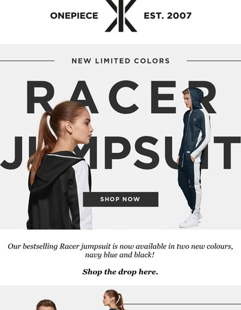 NEW IN: Racer Jumpsuit in more colors!