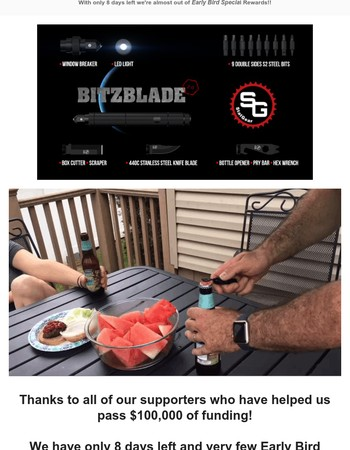 Last few Early Bird Spots for the BitzBlade 2.0!