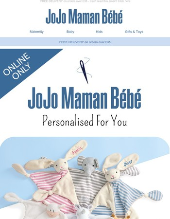 Personalised gifts from JoJo