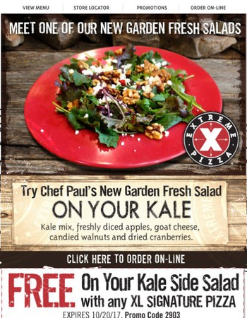 Try Our NEW On Your Kale Salad