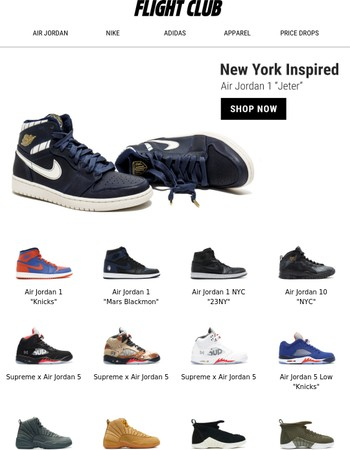 New York Inspired feat. the Air Jordan 1 Jeter, Nike Air More Uptempo The Dunk & more.