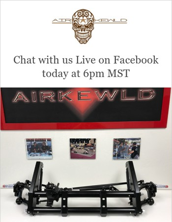 Chat with us Live on Facebook today at 6pm MST