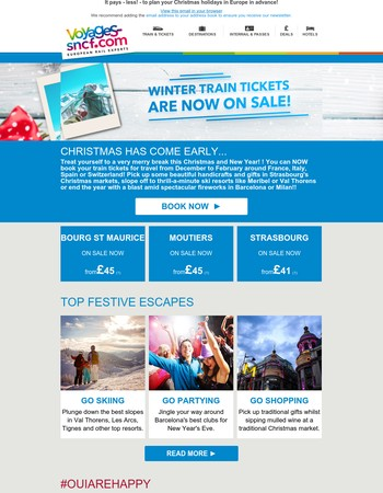 Ho Ho Ho! Snap up winter train tickets for Christmas and New Year at low prices!