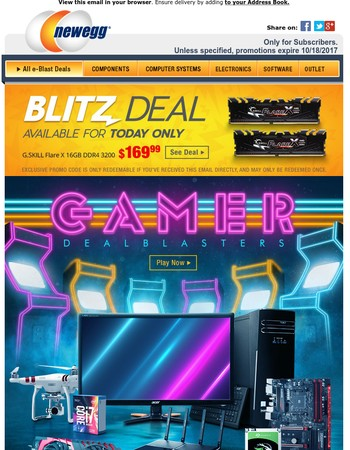 Become a Gaming Legend w/ $130 Off Acer 27