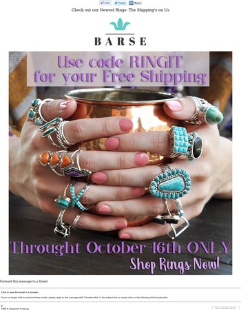 Check out our Newest Rings- The Shipping's on Us