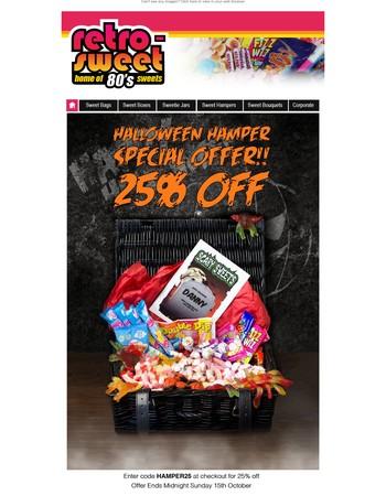 HALLOWEEN HAMPER SPECIAL OFFER!! 25% OFF