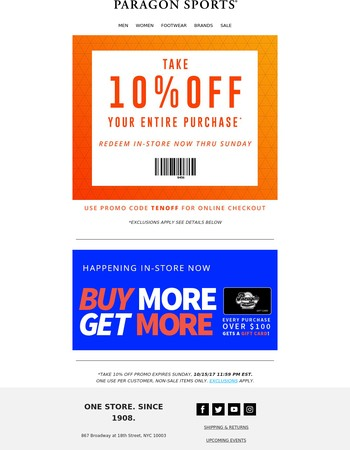 TAKE 10% Off Your Entire Purchase!