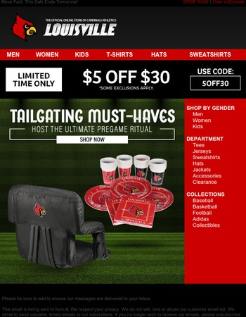 Take Your Tailgate to the Next Level + $5 Off Your Order