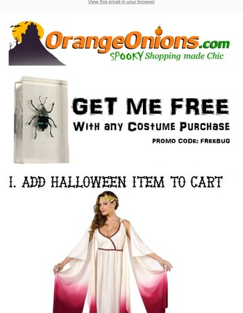 Free Spooky REAL BUG w/ Any Halloween Purchase! (Items Starting at $6.99 Shipped!)