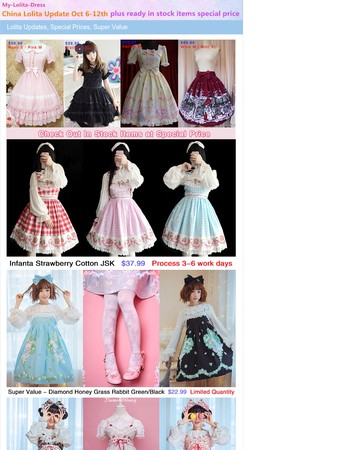 China Lolita Update Oct 6-12th, Plus Ready in Stock Items at Special Prices