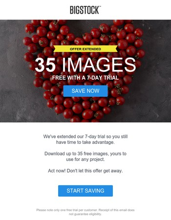 Offer extended: Free images for 7 days