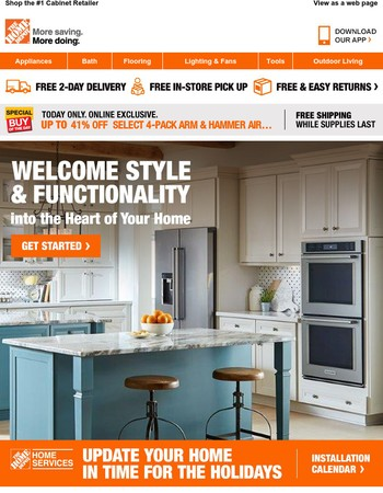 The Kitchen You Want. The Savings You Deserve.