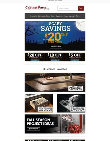 Spooky Savings - Take $20 Off Now