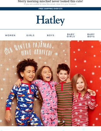 A new season = new festive pajamas for the little ones!