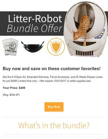 Litter-Robot Bundle Offer!