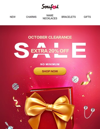 Our October Clearance Starts NOW!