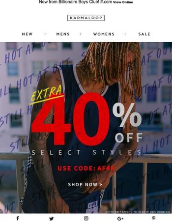 Save an Extra 40%
