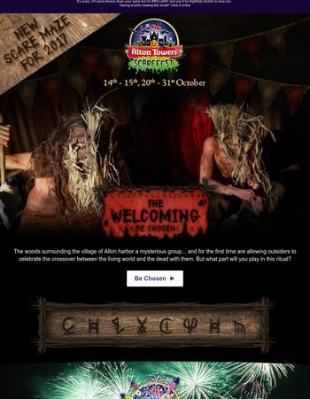 Dare you! Take on our award-winning scare mazes...