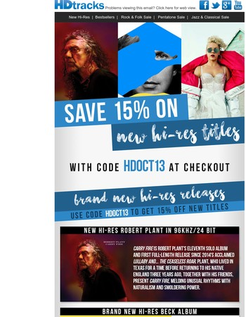 New Hi-Res Robert Plant, Beck, P!nk & Much More Inside