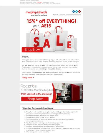Mary, Exclusive savings, enjoy 15% off!