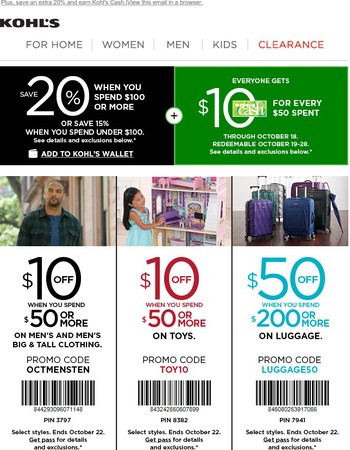 $10 off, $10 off, $10 off AND $50 OFF!
