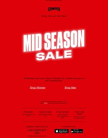 Mid Season Sale – Enjoy Up To 25% Off