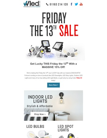 Our LUCKY Friday The 13th Sale!