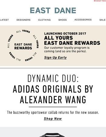 Just in: Adidas Originals by Alexander Wang