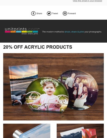 20% Off Acrylic Products!
