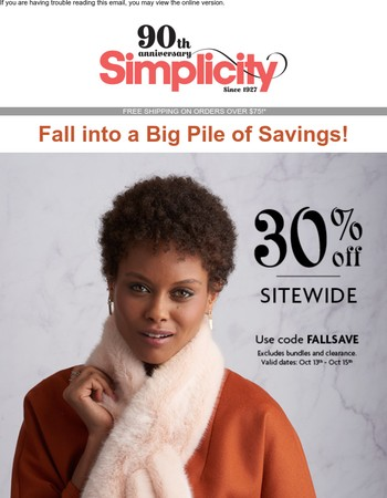 30% Off Sitewide is Too Good to Miss!