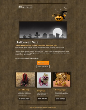 Boo!  13% Off Everything!