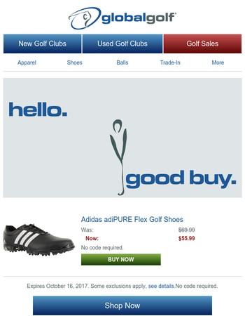 Hello, Good Buy: Adidas adiPURE Flex Golf Shoes