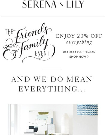 20% off everything, in-store + online!