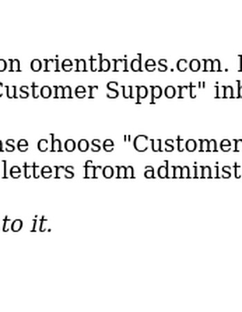 New message from OrientBrides Customer Support