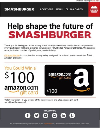 Your Opinion Matters: Win $100 at Amazon for Taking our Survey