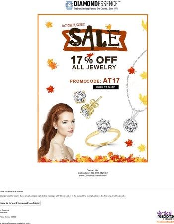This Weekend Take Extra 17% Off Every Jewelry