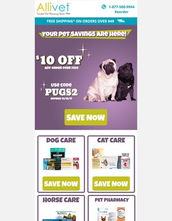 Your Pet Savings are Here