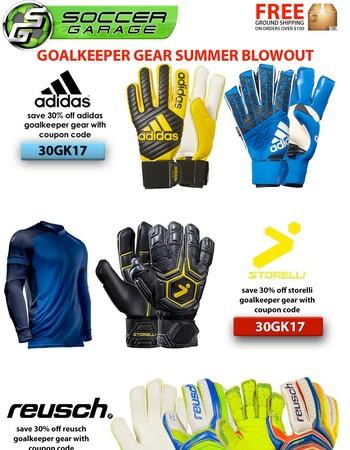 Soccer Goalkeeper Blowout | 30% OFF SALE PRICES | SOCCERGARAGE.COM