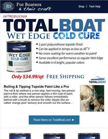 Topside Paint That Cures In Cold Weather