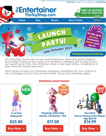 It's launch day at The Entertainer!