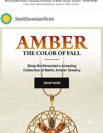 Shop Amber, The Color of Fall