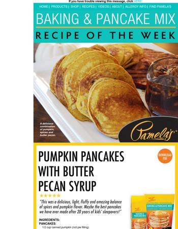 Pumpkin + Pancakes = Perfect Fall Breakfast!