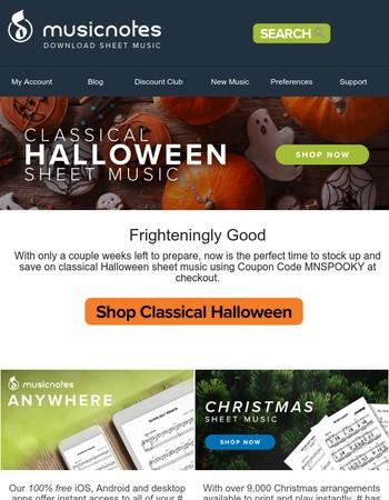 Save on Frighteningly Good Sheet Music