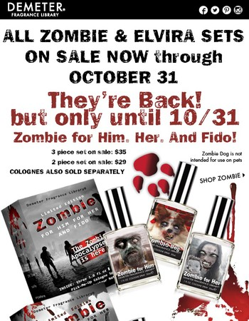 SALE: Elvira and Zombie Sets - Limited Time