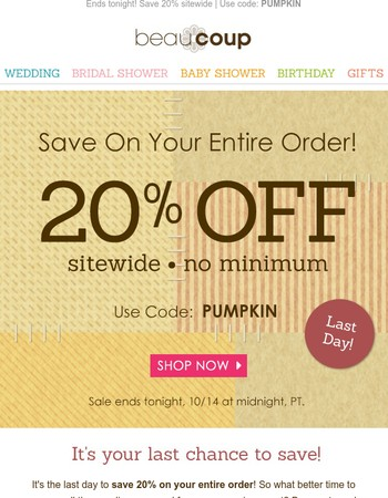 Party Supplies for Every Occasion + Last Day to Save 20%